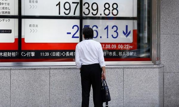 Asian shares wobbly as risk sentiment sours, euro buoyant