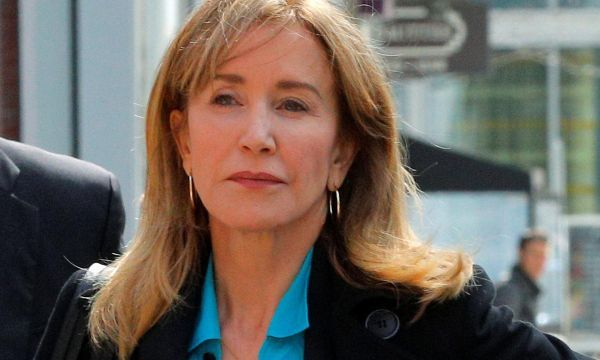 Felicity Huffman arrives at Boston court to face college admissions cheating charges