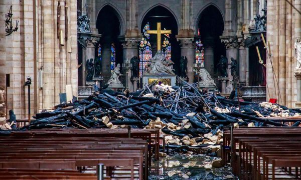 Gutted but 'valiant', Notre-Dame still stands