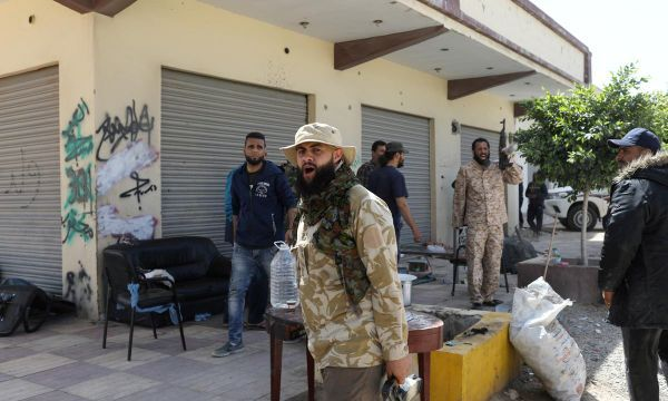 Mortar bombs land on Tripoli suburb as two-week battle rages on