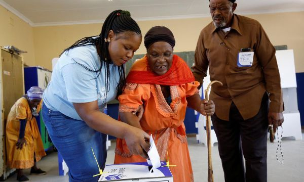 South Africa's ANC seen winning election but support sliding
