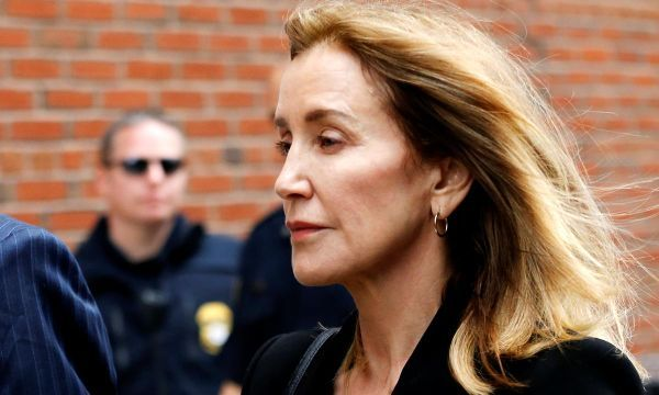 Actress Felicity Huffman arrives at court to plead guilty in U.S. college scandal