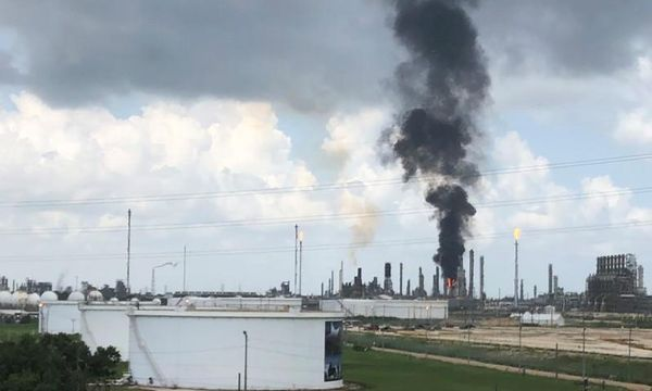 Fire under control at Exxon petrochemical plant; some workers suffer minor burns