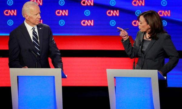 Biden faces fierce attacks, fights back in combative Democratic debate